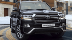 Передние фары Executive Black Toyota Land Cruiser 200 2016-